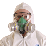Asbestos training - face fit test